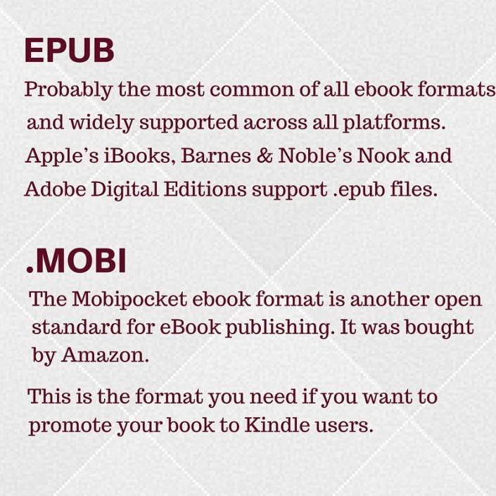 EPUB & .mobi